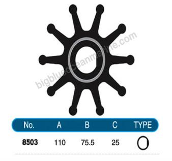 JMP FLEXIBLE IMPELLER #8503-01 (SPECS)