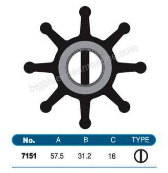 JMP FLEXIBLE IMPELLER #7151-01 (SPECS)