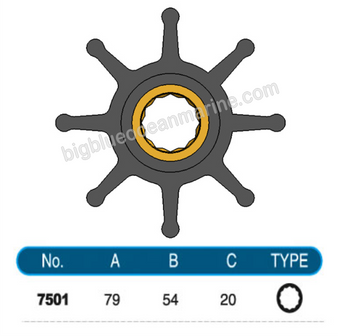 JMP FLEXIBLE IMPELLER #7501-01 (SPECS)