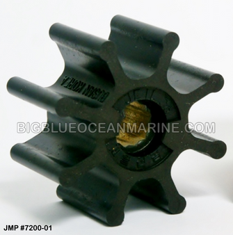 JMP FLEXIBLE IMPELLER #7200-01 (Actual Impeller Image)