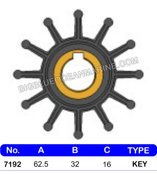 JMP FLEXIBLE IMPELLER #7192-01 (SPECS)