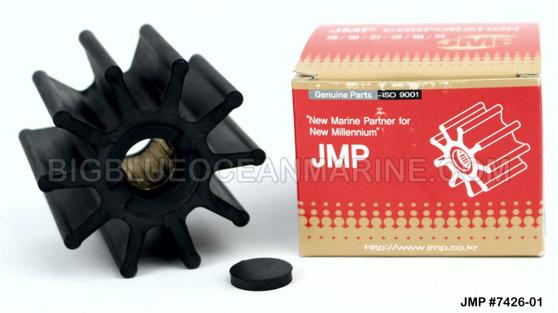 JMP MARINE FLEXIBLE IMPELLER #7426-01 (Actual Impeller Image)