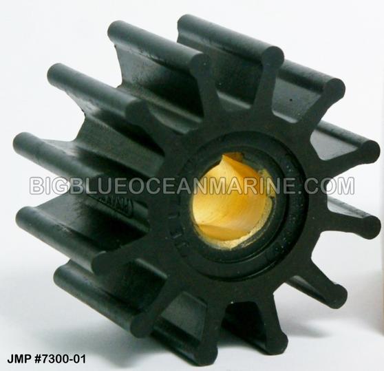 JMP FLEXIBLE IMPELLER #7300-01 (Actual Impeller Image)