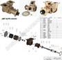 JMP #JPR-G6400 JMP DETROIT DIESEL REPLACEMENT RAW WATER ENGINE COOLING PUMP and EXPLODED VIEW DIAGRAM