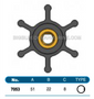 JMP FLEXIBLE IMPELLER #7053-02 (SPECS)