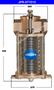 JMP #JPR-ST7010 SEA WATER STRAINER (A) Top Width / Dia = 260mm (B) Height = 445mm (C) Bottom Width / Dia = 275mm