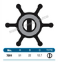 JMP FLEXIBLE IMPELLER #7051-01 (SPECS)