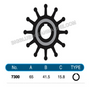 JMP FLEXIBLE IMPELLER #7300-01 (SPECS)