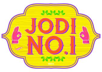 Jodi No 1 Indian Prop Sign