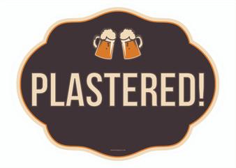 Plastered