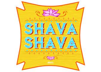 Shava Shava Indian Prop Sign