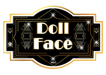 Doll Face Gatsby Sign