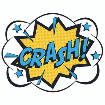 Crash Comic Prop Sign