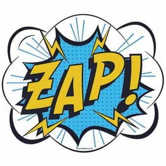 Zap Comic Sign