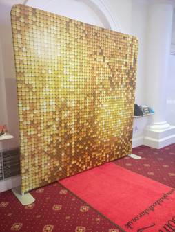 Gold Sequin Backdrop Double Sided