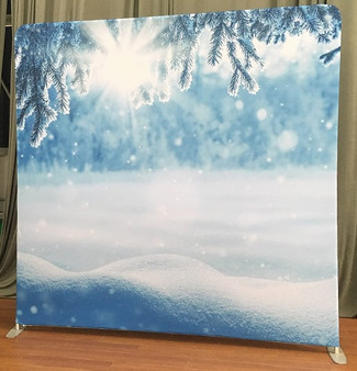 Snow Backdrop Double Sided