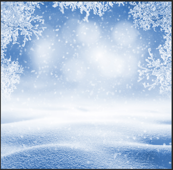 Snowflake Backdrop Double Sided