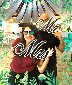 Mr & Mrs Neon Prop Sign