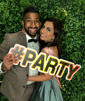 #PARTY Flexible Prop Sign