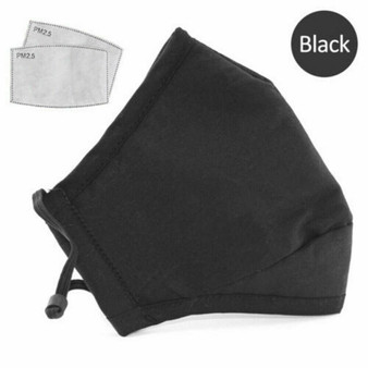 Reusable Face Mask Unisex Washable Anti-pollution with PM2.5 Cotton Filter