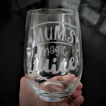 Stemless Wine Tumbler - Mum's Magic Juice