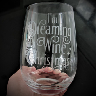 Stemless Wine Tumbler - I'm Dreaming of a Wine Christmas