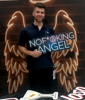 No F@cking Angel XL Prop Sign