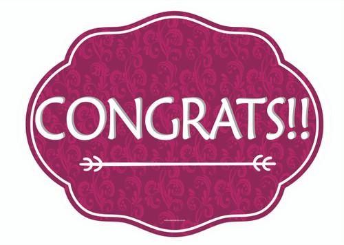 Congrats Prop Sign