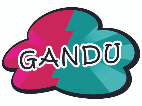 Gandu Indian Prop Sign