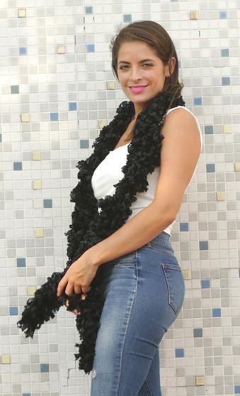 Black Featherless Boa