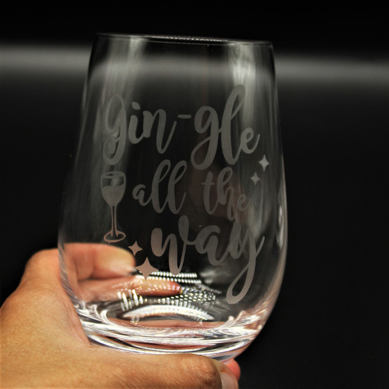 Stemless Wine Tumbler - Gin-gle all the way