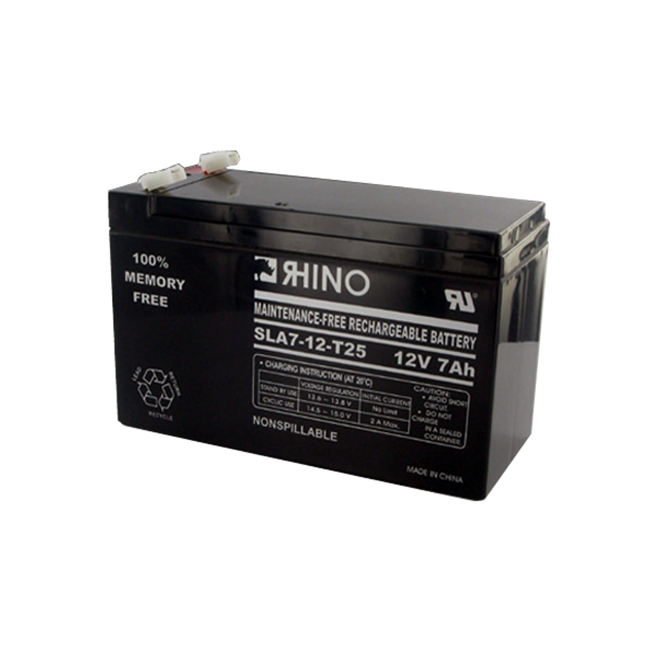 Rhino SLA7-12 12V 7Ah Sealed Lead Acid Battery This is an AJC Brand Replacement