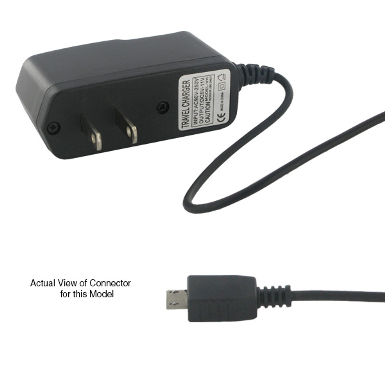 Universal Cellular Phone AC Travel Charger (Compatible Models Below)