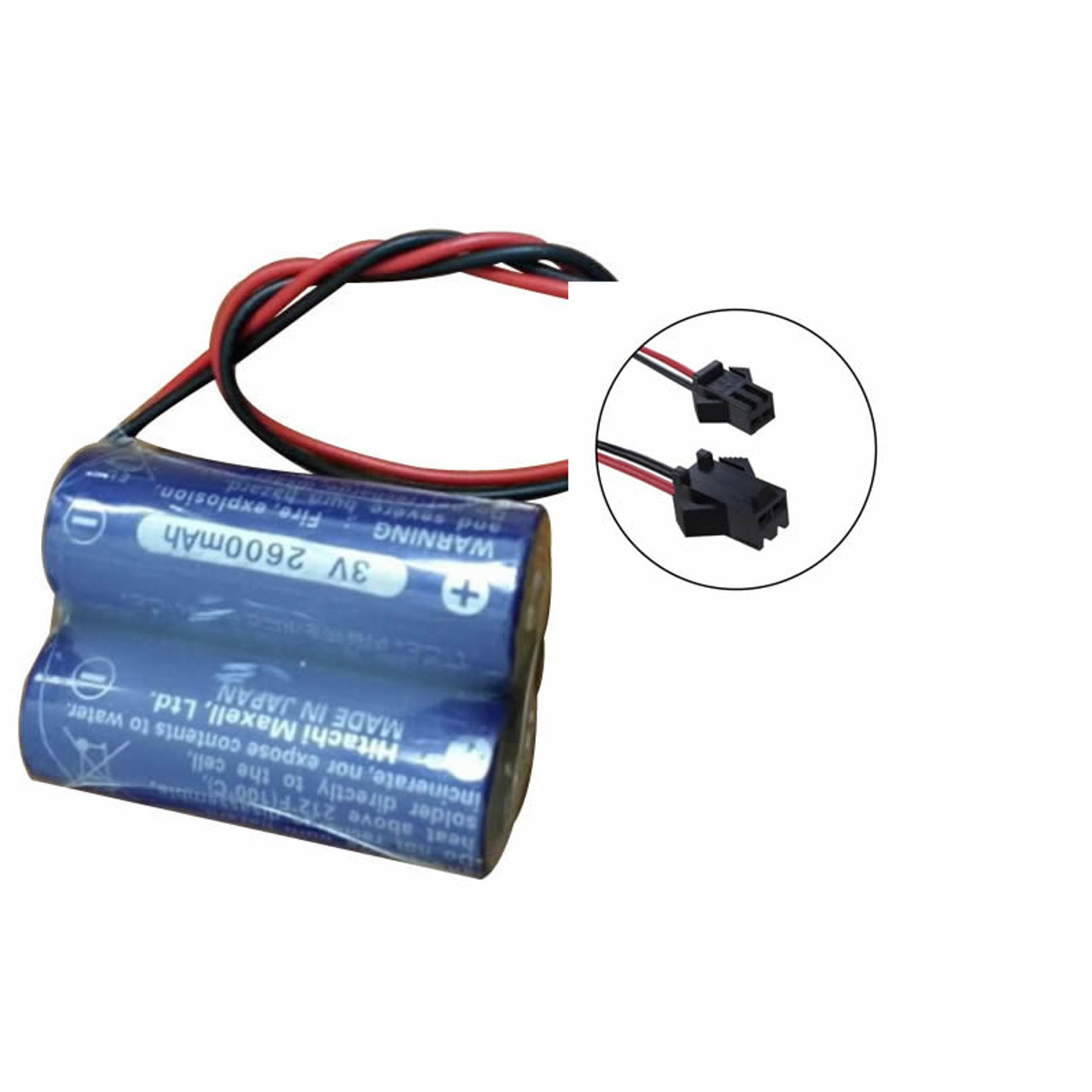 Maxell 2CR17450 Battery CR17450 (3V) Hitachi with RD051 Connector