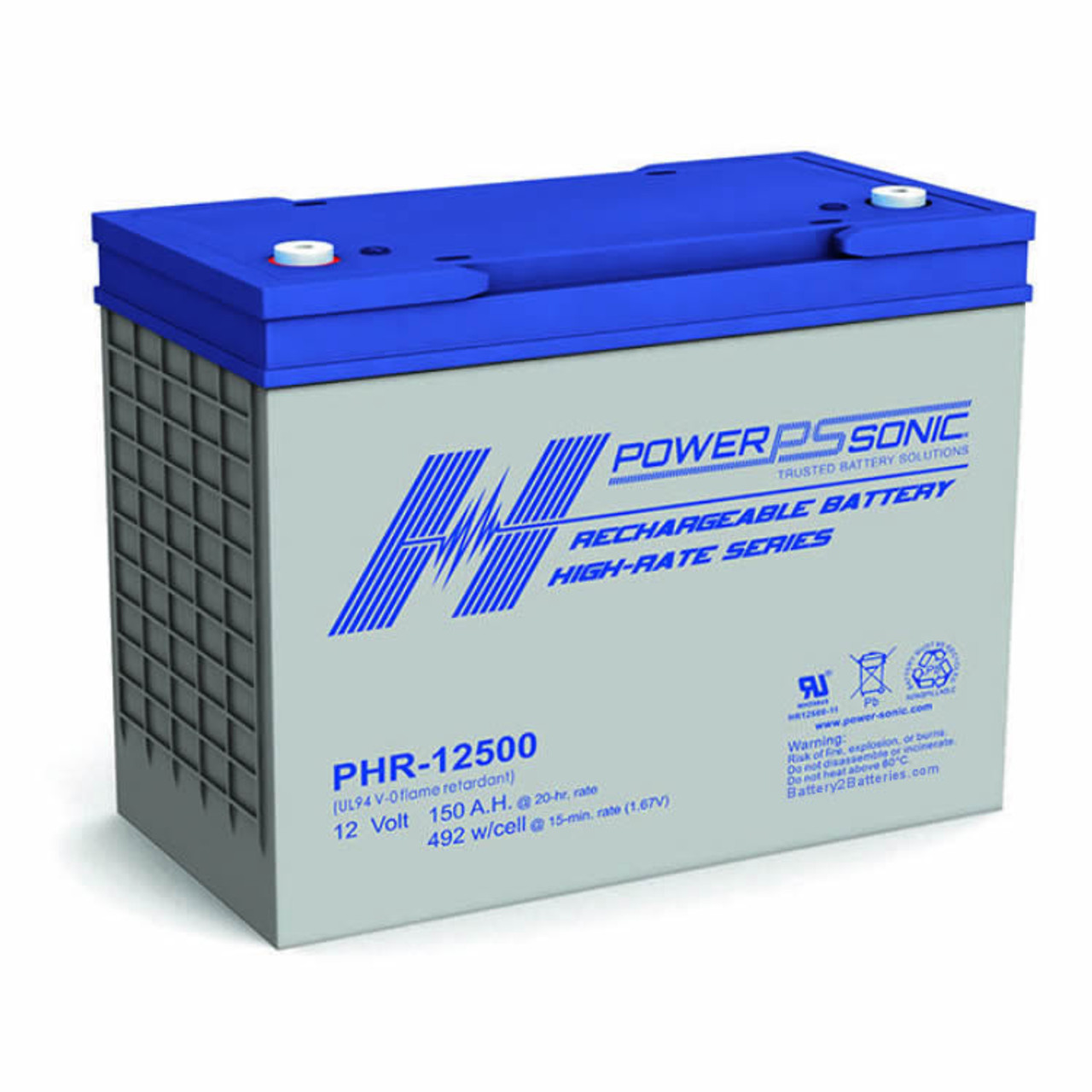 Power Sonic PHR-12500 Battery