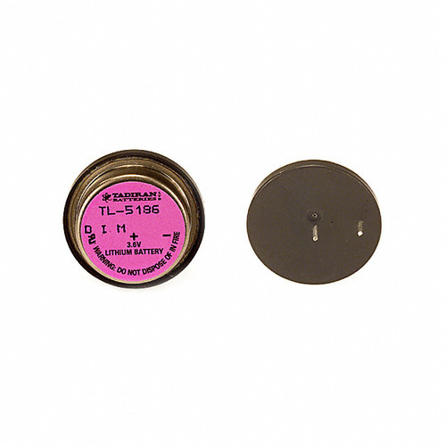 Tadiran TL-5186 Battery - 3.6V Lithium Bel Wafer Battery 2 Pin