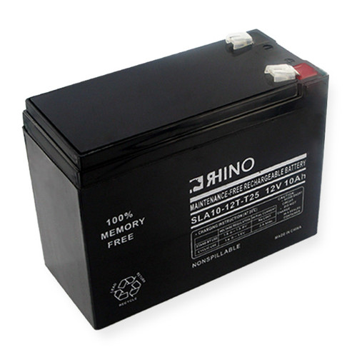 12 Volt 10.0 Ah Battery - Rhino SLA10-12T-T25 Sealed Lead Acid Rechargeable