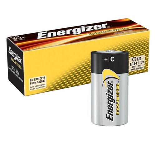Energizer Industrial EN93 C Alkaline Battery (Case of 72)