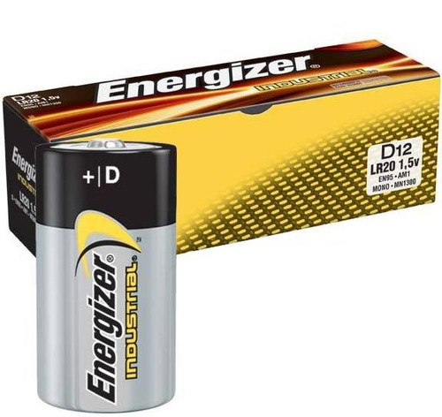 Energizer Industrial EN95 D Alkaline Battery (12 Pack)