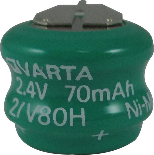 Varta 55608302059 - 2/V80H Battery - 2.4V 80mAh Ni-MH - 3 Pin