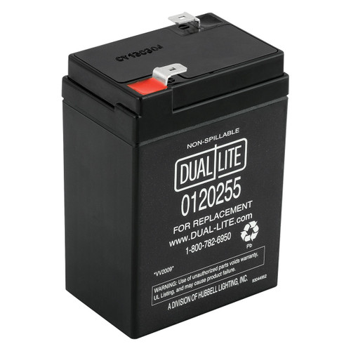 This is an AJC Brand Replacement Dual-Lite 12-706 6V 5Ah Emergency Light Battery