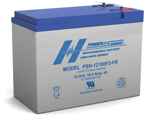 "Mongoose IMPACT Electric Scooter Battery - 12 Volt 10.0 Ah (.250"" Width Terminals)"