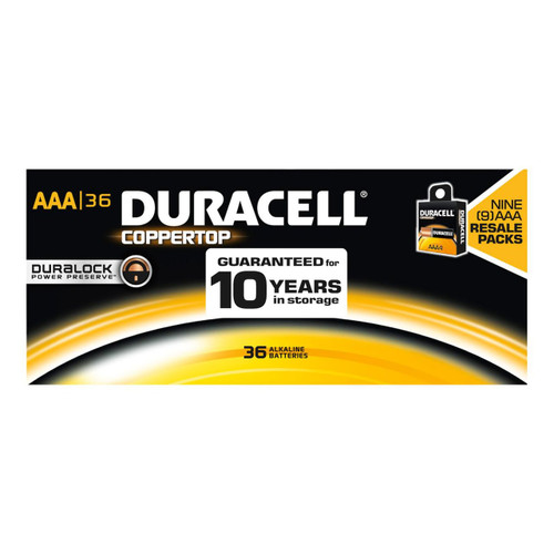 Duracell Coppertop AAA Batteries - Alkaline Resale 34 Pack - MN2400
