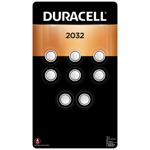 Duracell DL2032 - CR2032 Batteries - 3V Lithium 8 Pack