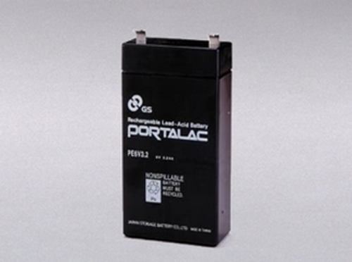GS Portalac PE6V3.2 Battery - 6V 3.2Ah Sealed Rechargeable, LC-R063R2PU, LCR063R2PU, PE-6V3.2, PE-6V3.2F1, PE6V3.2F1, PS632