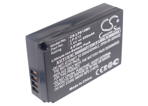 Canon LP-E12 Battery