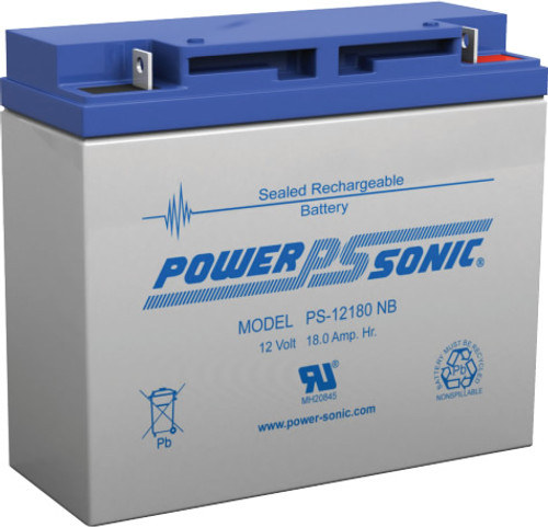 Power-Sonic PS-12180 NB Battery - 12 Volt 18Ah (Nut & Bolt)