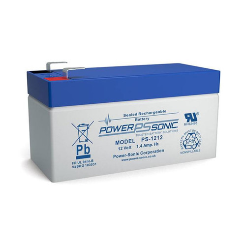 "Power-Sonic PS-1212 Battery - 12 Volt 1.2 Amp Hour (.187"")"