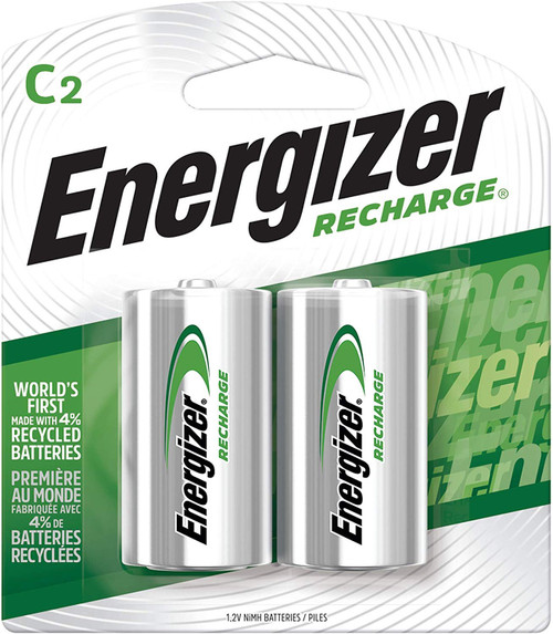 Energizer C Cell NiMH Rechargeable Batteries NH35BP-2 (6 packs of 2)