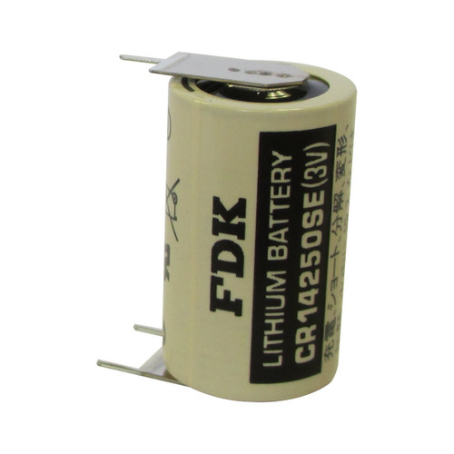 FDK Sanyo CR14250SE-FT Battery - 3V 1/2 AA Laser Lithium Cell (3 Pin)